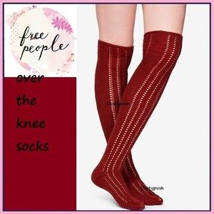 5fa423cd3 Free People. Free People Over Knee Socks Thigh High Pointelle. NWT.  30  35